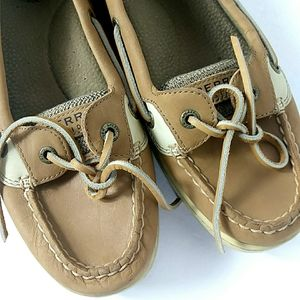 Sperry Top Sider Leather Tan Boat Shoes 9.5